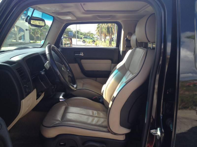 hummer h3 black beige interior saint martin