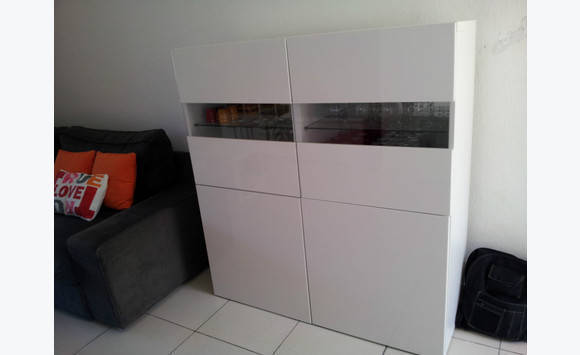 Furniture Ikea Besta Showcase