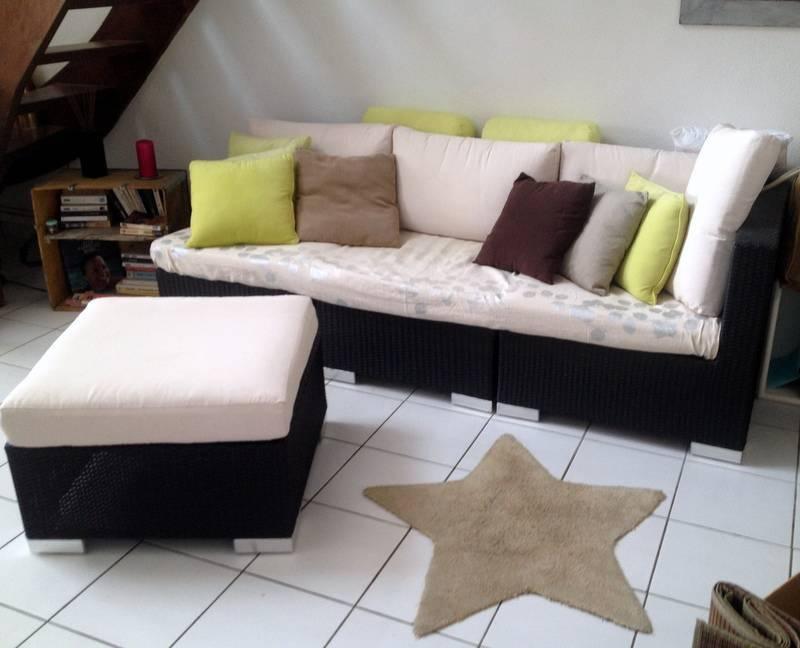 Sofa d 39 ext rieur en resine annonce mobilier et for Equipement exterieur
