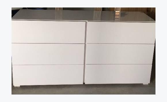 Commode 6 tiroirs laqu blanc annonce meubles et d coration cul de sac sa - Commode laquee blanc 6 tiroirs ...