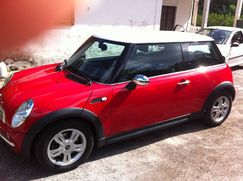 Mini One Red Roof White Cars Saint Martin Cyphoma