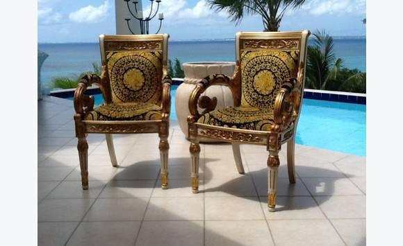 fauteuils versace annonce meubles et d coration saint. Black Bedroom Furniture Sets. Home Design Ideas