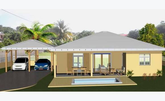 Villa construire sur terrain de 597m2 annonce ventes le lamentin martinique for Villa a construire