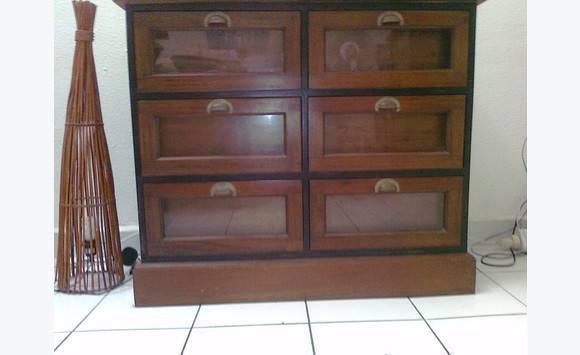 meuble bois exotique 6 tiroirs Annonce Meubles et Décoration