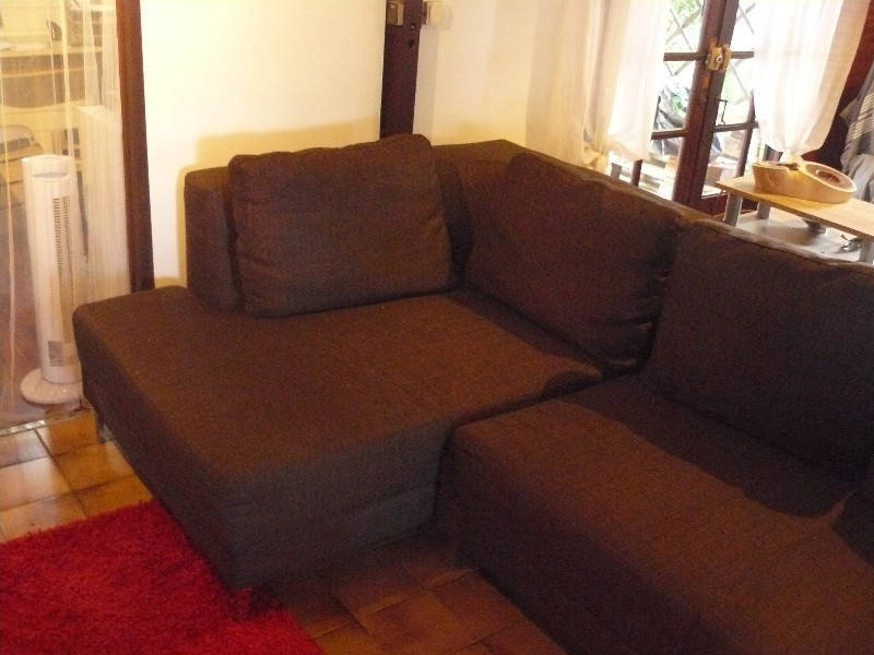 Canapé d angle tissu marron avec méri nne gauche Annonce