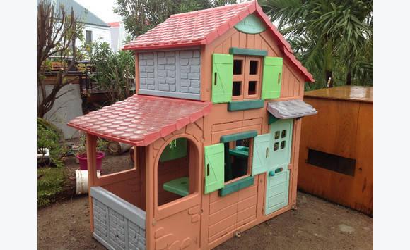 Cabane jardin enfant avec etage annonce jeux jouets - Cabane de jardin en plastique ...