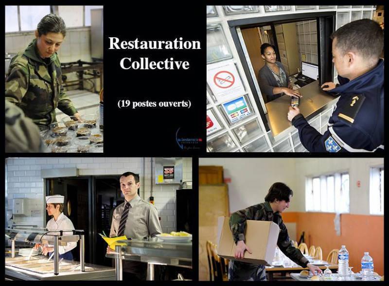 Restauration collective gendarmerie annonce offre for Emploi agent restauration collective