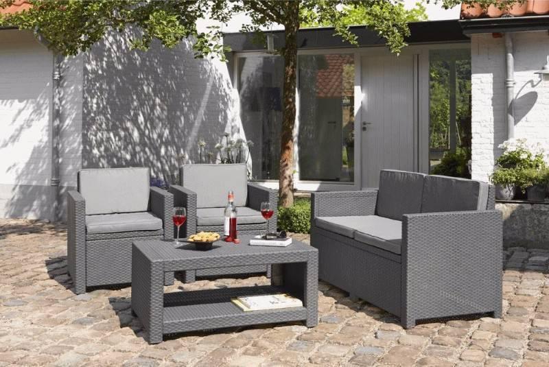 Salon de jardin 4 places aspect rotin tress annonce for Mobilier tresse exterieur