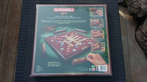 scrabble dition deluxe en bois annonce jeux jouets. Black Bedroom Furniture Sets. Home Design Ideas