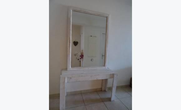 Grand miroir et console meubles et d coration saint martin for Miroir et console