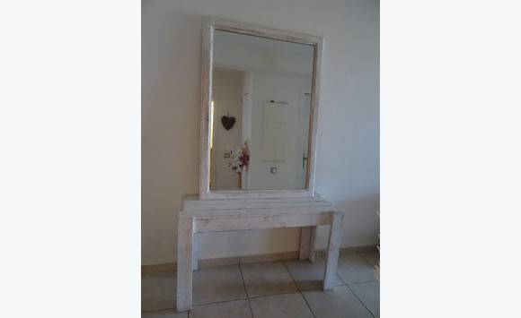 Grand miroir et console annonce meubles et d coration for Miroir et console