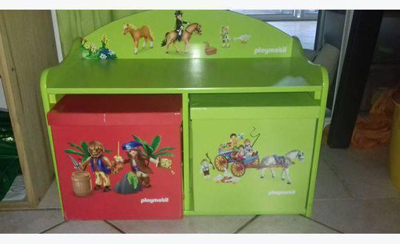 meuble playmobil livres jeux