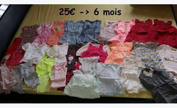 82891d94f2824 Lots vêtements bébé fille - Habillement Enfant et Bébé La Réunion ...