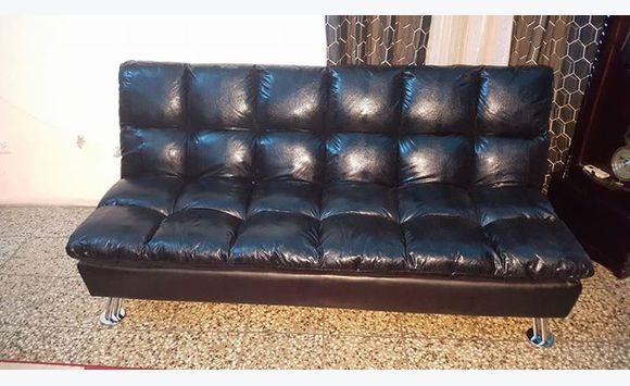 futon modern bed best convertible sleeper black sofa leather couch matrix lrg