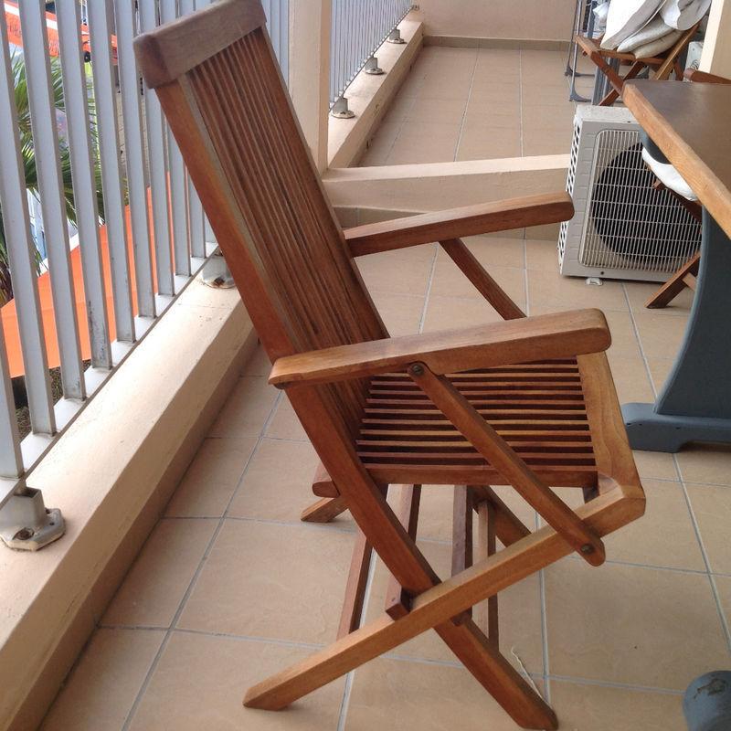 Chaises en teck annonce mobilier et quipement d for Equipement exterieur