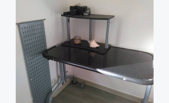 Bureau bicolore noir et sable euros hamdesign by home art