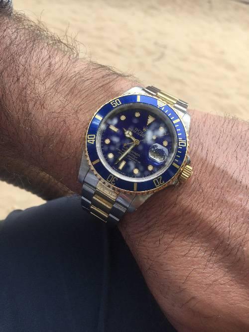 Rolex Submariner Blue Gold Steel