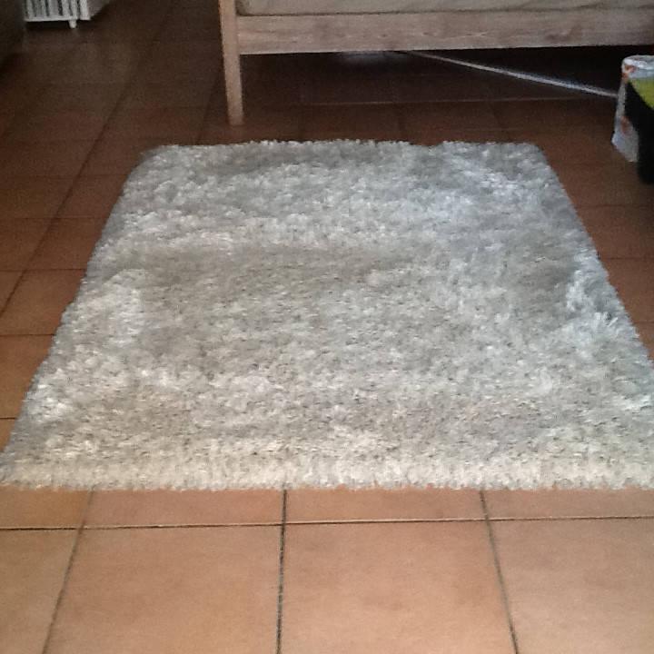 Tapis Shaggy Beige Et Blanc 120x170 Cm Meubles Et Decoration Saint
