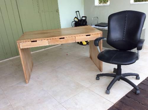 140lx80lx78h Teak Desk Office Chair Saint Martin