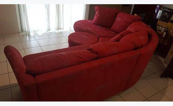 european red sofa set - Furniture and Decoration Sint Maarten • Cyphoma