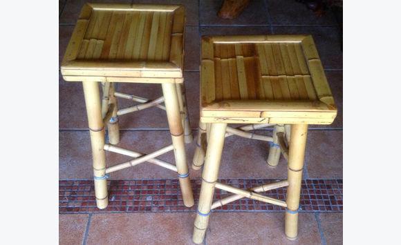 2 tabourets de bar exotique en bambou naturel annonce for Meuble bar exotique