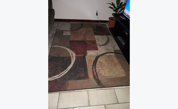 Area rugs 8 by 5 multi color