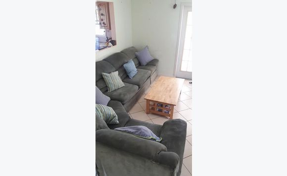 Sofa set with pull out double bed