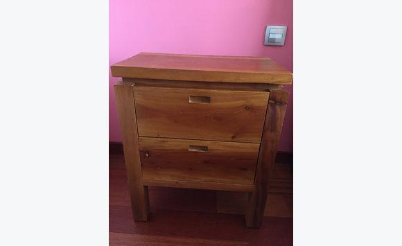 table de chevet bois massif - meubles et décoration saint barthélemy