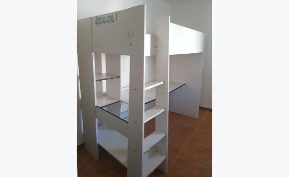 bed mattress 200 x 90 + mezzanine + office
