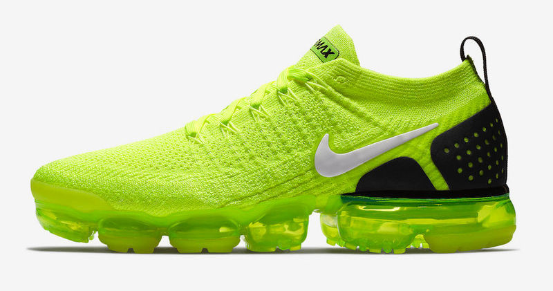 vapormax neon green