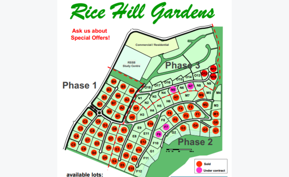 Rice Hill building lots Phase 2 & 3