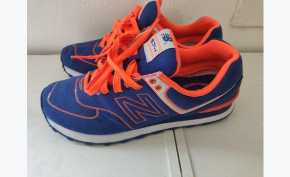 magasin en ligne 2cb11 0549f New Balance bleu et orange