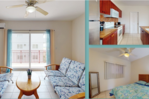 Large 1 B/R furnished units for long term rental