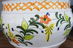 Vaso de flores de cerâmica