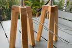 Pieds de lampes en bois